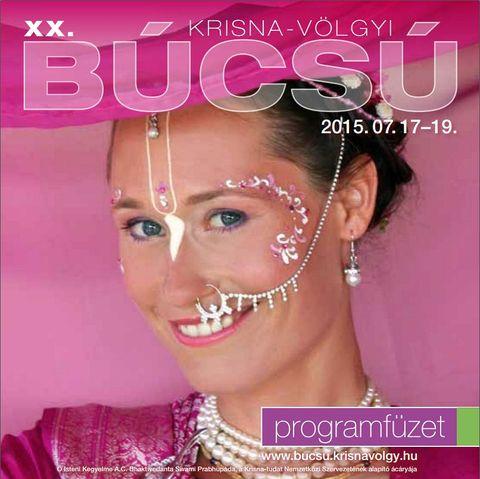 Krisna-völgyi Búcsú 2015 programfüzet borítója
