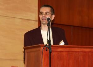 II. Fenntarthatósági konferencián Rádharadya dász beszél