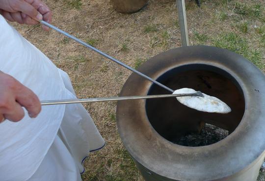 Tandoori sütés részlet...