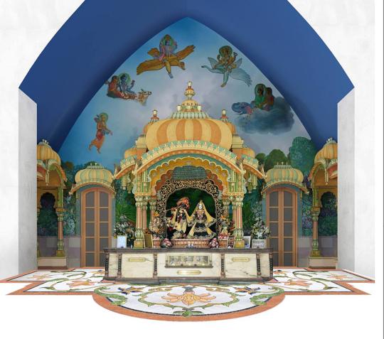 Krisna-völgy új oltár terv