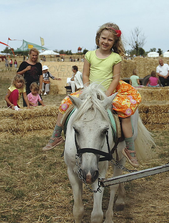 Pónilovaglás gyerekeknek a Krisna-völgyi Búcsúban