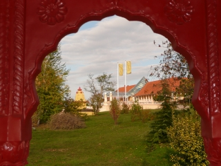 Pavilon amely templomokra néz
