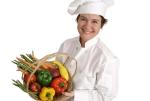Vidám vegetáriánus szakács